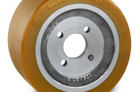 Κινητήριος τροχός για ηλεκτροκίνητο παλετοφόρο 233mmΧ85mm, από πολυουρεθάνη  με εφαρμογή φλάντζα με 4 τρύπες για μηχανήματα Jungheinrich,Still-Wagner