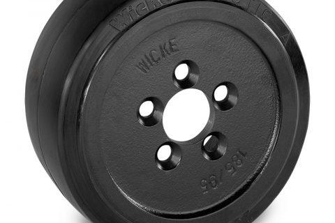 Κινητήριος τροχός για ηλεκτροκίνητο παλετοφόρο 230mmΧ90mm, από ελαστικό λάστιχο με εφαρμογή φλάντζα με 5 τρύπες για μηχανήματα Linde