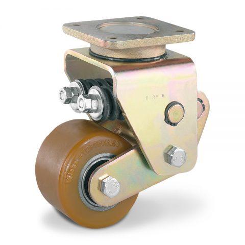 Σταθεροποιητικός τροχός για ηλεκτροκίνητο παλετοφόρο 100mmΧ63mm, από πολυουρεθάνη με διπλά σφαιρικά ρουλεμάν για μηχανήματα Yale/Hyster