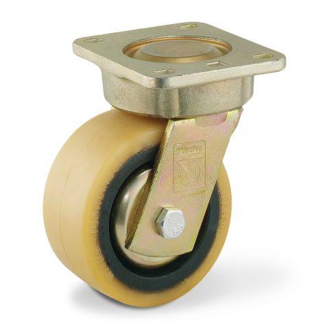 Σταθεροποιητικός τροχός για ηλεκτροκίνητο παλετοφόρο 125mmΧ60mm, από πολυουρεθάνη με διπλά σφαιρικά ρουλεμάν για μηχανήματα Linde