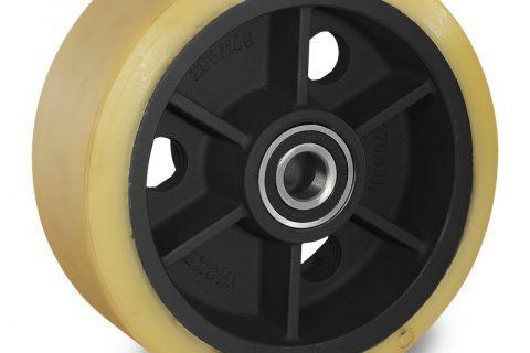 Τροχός φορτίου για ηλεκτροκίνητο παλετοφόρο 343mmΧ140mm, από πολυουρεθάνη  για μηχανήματα Linde,Magaziner