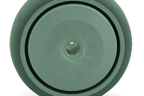 Τροχός 125mm για καρότσι ελαφρύ,με τροχό από Γκρι λάστιχο χωρίς ρουλεμάν.