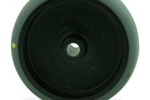 Ηλεκτροαγώγιμος τροχός 150mm για καρότσι ελαφρύ,με τροχό από Γκρι λάστιχο χωρίς ρουλεμάν.