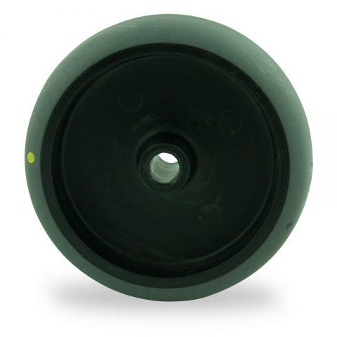 Ηλεκτροαγώγιμος τροχός 75mm για καρότσι ελαφρύ,με τροχό από Γκρι λάστιχο χωρίς ρουλεμάν.