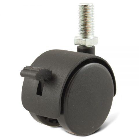Ρόδα για καρέκλα γραφείου και για έπιπλα με φρένο 50mm με βίδα M08X12