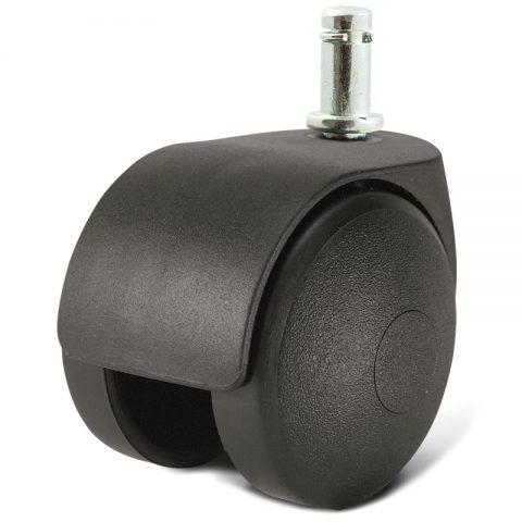 Ρόδα για καρέκλα γραφείου και για έπιπλα 50mm με πείρο 11x22