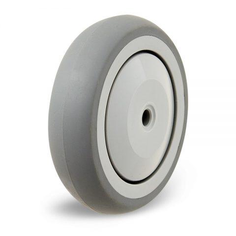 Τροχός για αναπηρικό καρότσι 125mm με γκρι λάστιχο χωρίς ρουλεμάν
