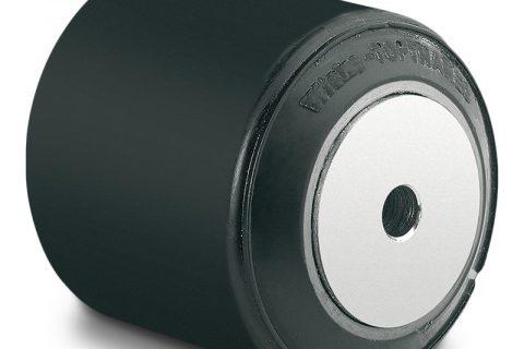 Τροχός φορτίου για ηλεκτροκίνητο παλετοφόρο 85mmΧ100mm, από πολυουρεθάνη με διπλά σφαιρικά ρουλεμάν και άξονα 12mm