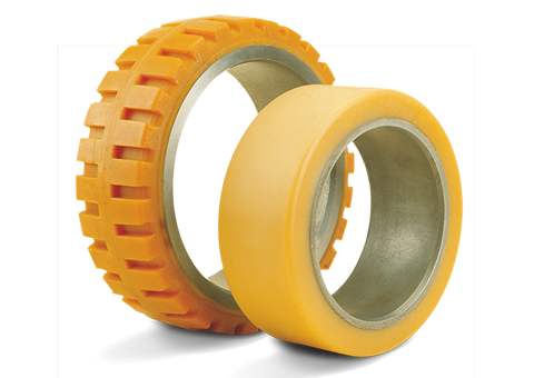 polyurethane-steel-band-tyres-for-power-pallet-trucks
