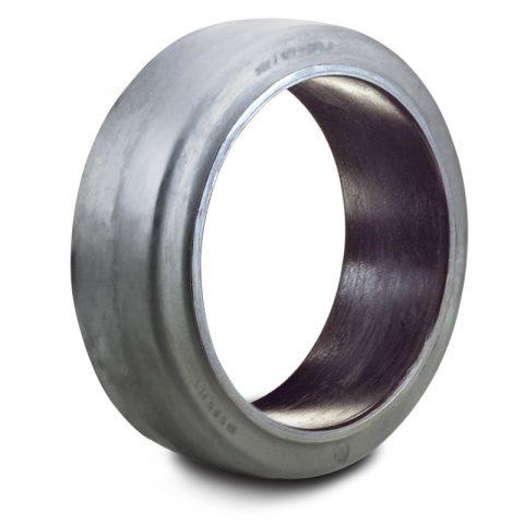 Δακτύλιος προσαρμογής για ηλεκτροκίνητο παλετοφόρο 680mmΧ150mm, από μαύρο λάστιχο
