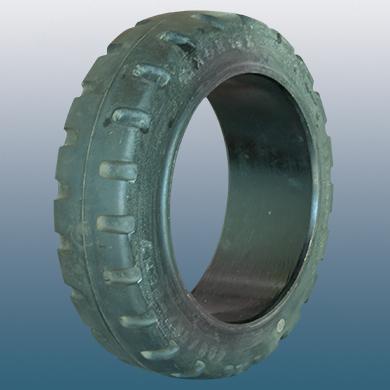 Δακτύλιος προσαρμογής για ηλεκτροκίνητο παλετοφόρο 250mmΧ130mm, από μαύρο λάστιχο