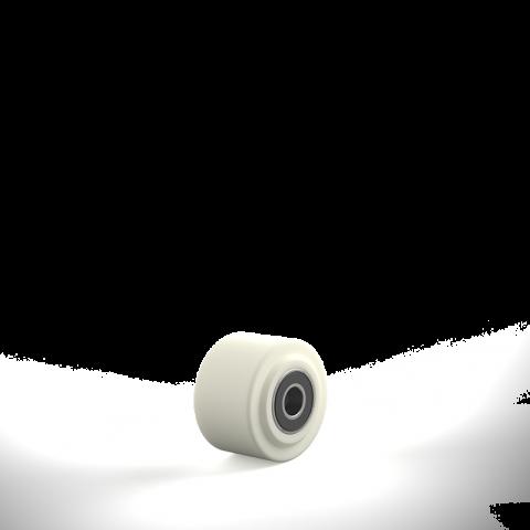 Τροχός 65mm από νάυλον ψηλής πυκνότητας για υψηλά φορτία,με σφαιρικά ρουλεμάν.