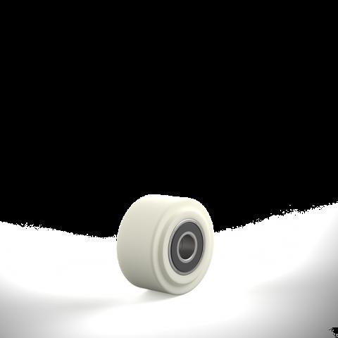 Τροχός 80mm από νάυλον ψηλής πυκνότητας για υψηλά φορτία,με σφαιρικά ρουλεμάν.