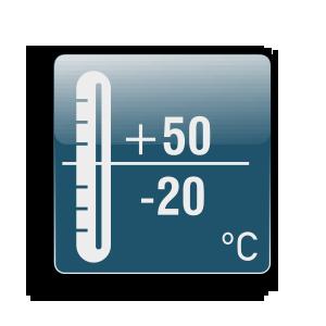 Λειτουργία από -20C μέχρι +50C