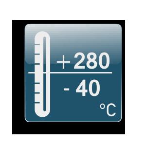 Λειτουργία από -40C μέχρι +280C