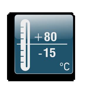 Λειτουργία από -15C μέχρι +80C