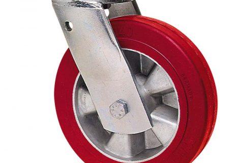 Περιστρεφόμενη ρόδα βαρέως τύπου 160mm από πολυουρεθάνη με ζάντα αλουμινένια με σφαιρικά ρουλεμάν.Προσαρμογή με πλάκα.