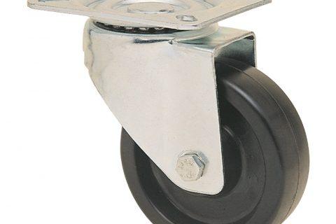 Περιστρεφόμενη ρόδα για καρότσι 160mm από τροχό υψηλών θερμοκρασιών χωρίς ρουλεμάν.Προσαρμογή με πλάκα.