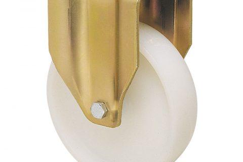 Σταθερή ρόδα βαρέως τύπου 175mm από νάυλον, χωρίς ρουλεμάν.Προσαρμογή με πλάκα.