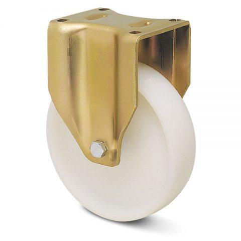 Σταθερή ρόδα βαρέως τύπου 200mm από νάυλον με σφαιρικά ρουλεμάν.Προσαρμογή με πλάκα.
