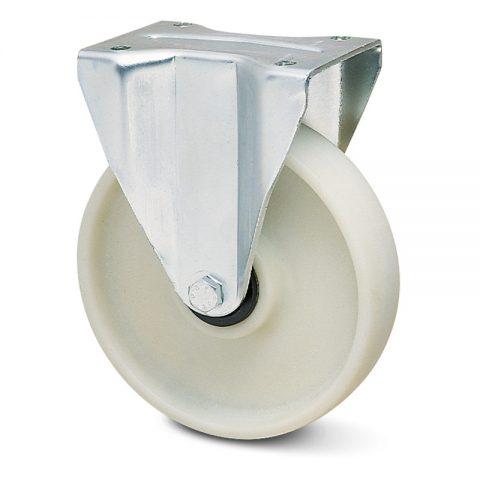 Σταθερή ρόδα για βαριές εφαρμογές 80mm από νάυλον+fiber glass χωρίς ρουλεμάν.Προσαρμογή με πλάκα.