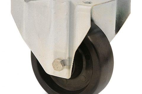 Σταθερή ρόδα για φούρνους 200mm από τροχό υψηλών θερμοκρασιών χωρίς ρουλεμάν.Προσαρμογή με πλάκα.