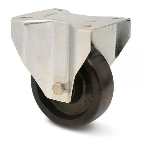 Σταθερή ρόδα για φούρνους 125mm από τροχό υψηλών θερμοκρασιών χωρίς ρουλεμάν.Προσαρμογή με πλάκα.